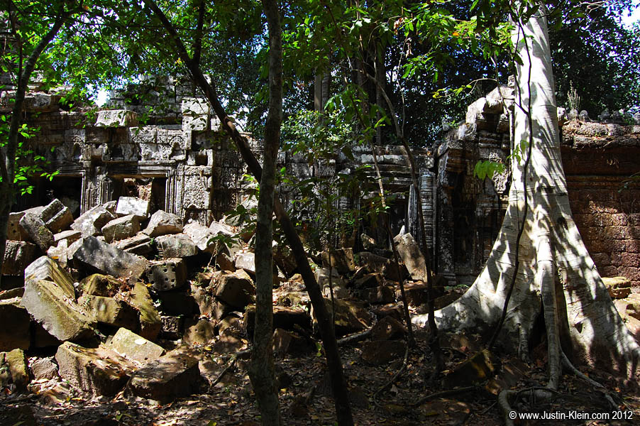 Forgotten ruins deep in the Cambodian jungle.  Imagine what it must've felt like to discover them for the very first time.