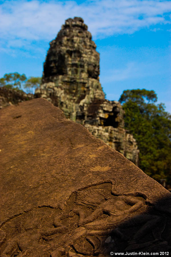 Ancient carvings at the Bayon.