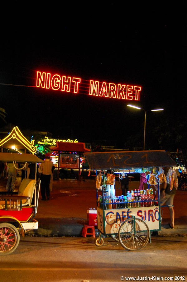 The sign for one of Siem Reap's night markets.