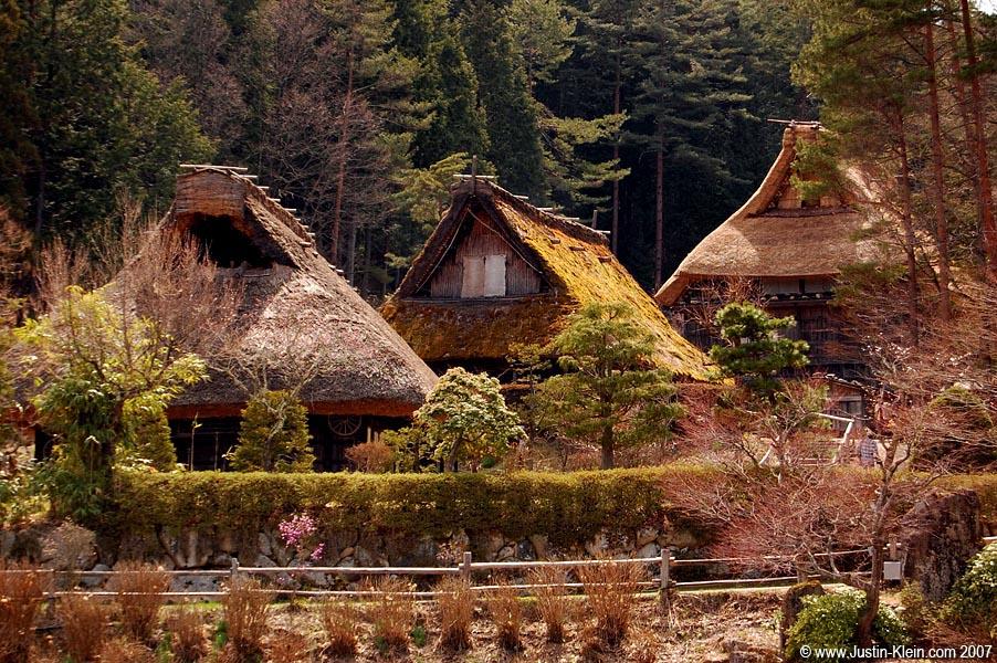 A preserved folk village near Hida Takayama