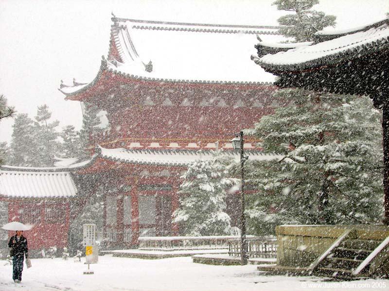 A Snowy Day at Daitoku-ji, Kyoto (Post)