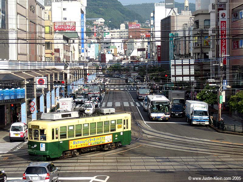 A streetcar in Nagasaki (Post)