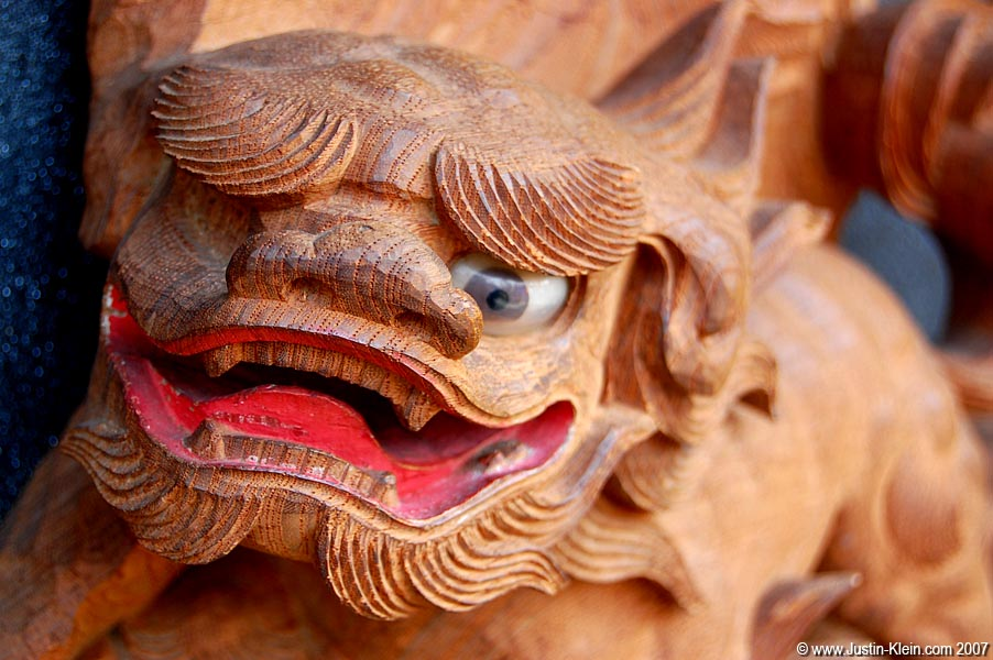 A close-up of one of the decorations on a float from the Takayama Matsuri