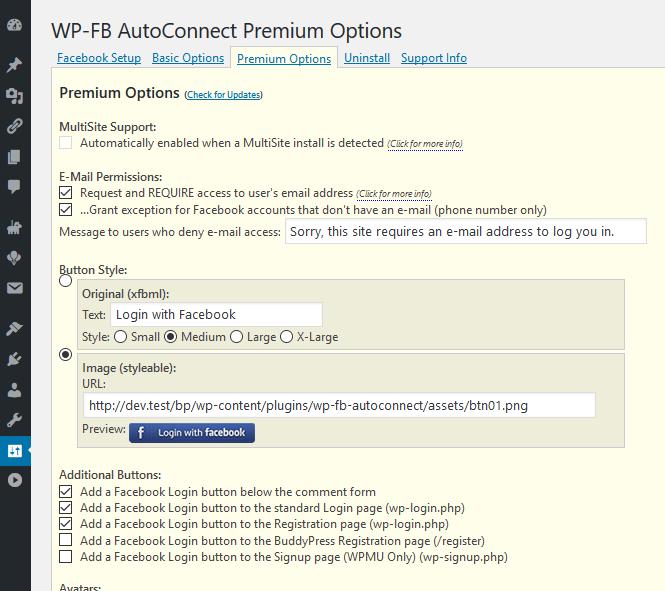 WP-FB AutoConnect – Justin-Klein com – Life of a Traveling Programmer